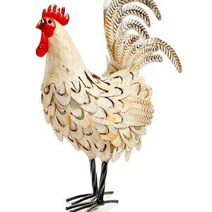 """La Dolce Vita 16"""" Iron Rooster Decor"""